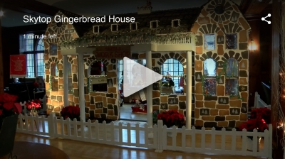 Giant Gingerbread House in the Poconos