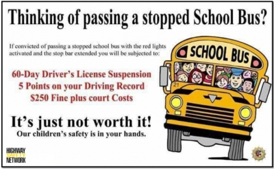 Thinking of passing a stopped school bus?