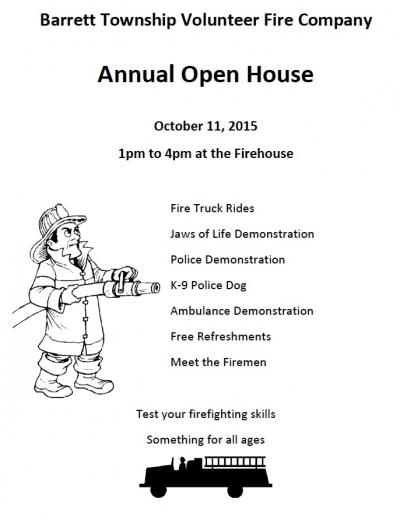 Barrett Township Volunteer Fire Company Annual Open House - 2015