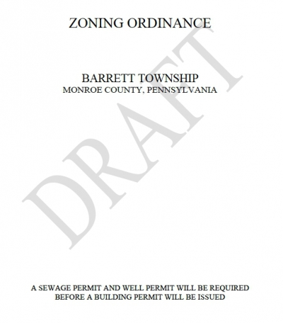 Barrett Township Supervisor Meeting - Zoning Ordinance