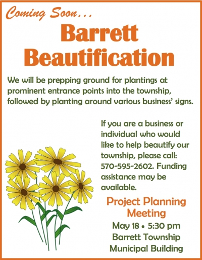 Coming Soon: Barrett Beautification