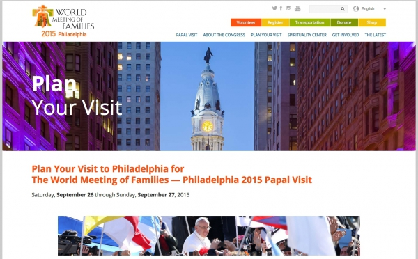 Plan Your Trip: Papal Visit to Philadelphia 2015