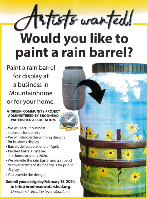 Artists Wanted!  Would you like to paint a rain barrel?