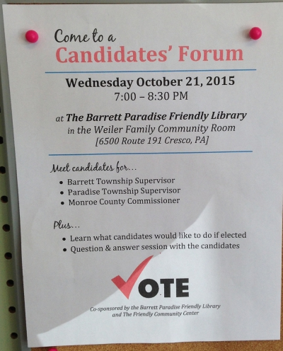 Pre-election Candidates' Forum